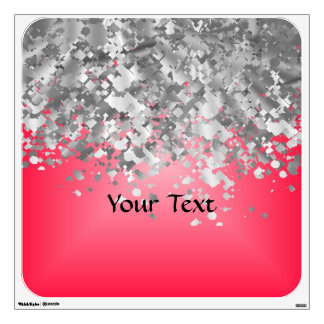 Red and faux glitter wall decal