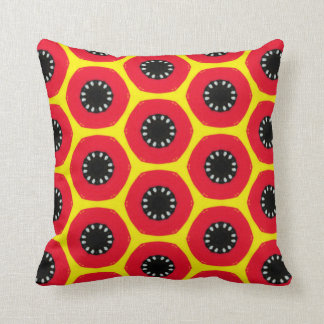 Red and Floral Throw Pillow