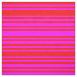 [ Thumbnail: Red and Fuchsia Colored Stripes Fabric ]