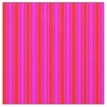 [ Thumbnail: Red and Fuchsia Pattern of Stripes Fabric ]