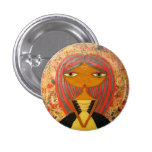 """""""Red and Gold"""" 1"""" Button by Sunny Crittenden!"""
