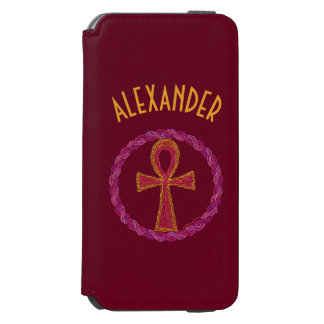 Red And Gold Ankh Symbol Ancient Egypt Wicca iPhone 6/6s Wallet Case