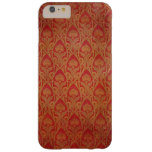 Red and Gold Art Nouveau Damask Barely There iPhone 6 Plus Case