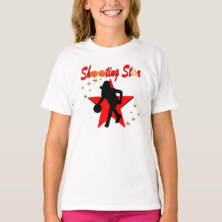 RED AND GOLD BASKETBALL SHOOTING STAR DESIGN T-Shirt