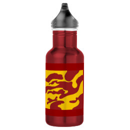 Red and Gold Camo California Water Bottle