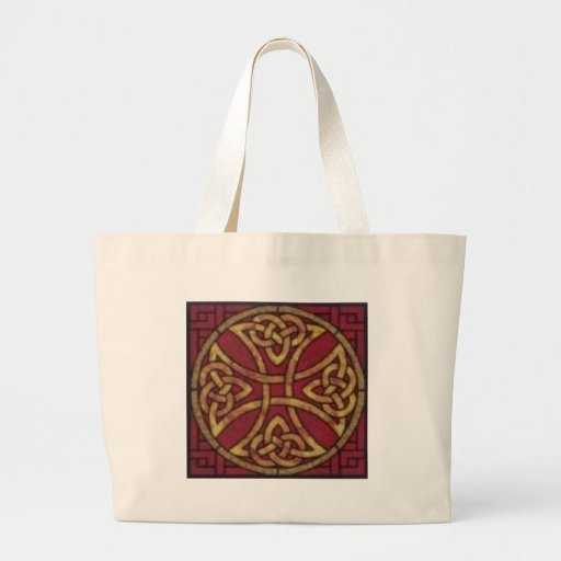 Red and Gold Celtic Knot Canvas Bag
