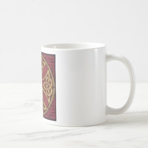 Red and Gold Celtic Knot Classic White Coffee Mug