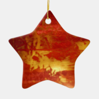 red and gold ceramic decoration christmas tree ornament