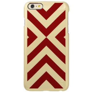 Red and Gold Chevrons Incipio iPhone 6 Plus Case Incipio Feather® Shine iPhone 6 Plus Case