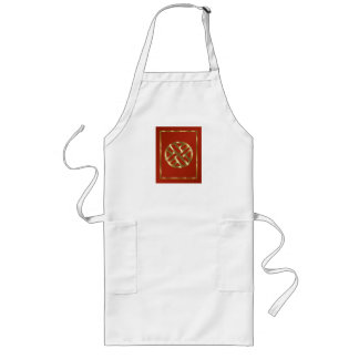 Red and Gold Chinese Chippendale Apron