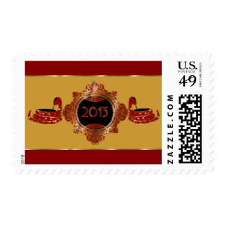 Red and Gold Chinese Year of the Snake Postage