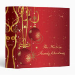 Red and Gold Christmas Album 3 Ring Binder