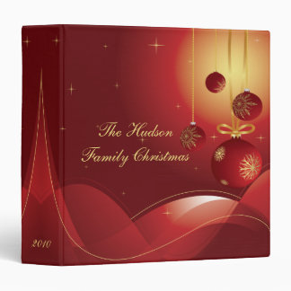 Red and Gold Christmas Album Binders