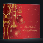 """Red and Gold Christmas Album Binder<br><div class=""""desc"""">A beautiful keepsake for those special moments. Personalize with your own information. If you need to move the text,  or change the size,  font,  or color,  click Customize It.</div>"""
