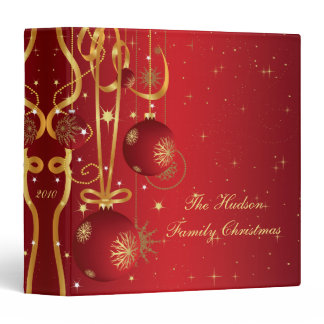 Red and Gold Christmas Album Binder