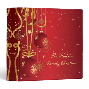 Christmas Themed Red and Gold Christmas Album Binder