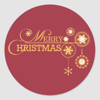 Red and Gold Christmas Stickers