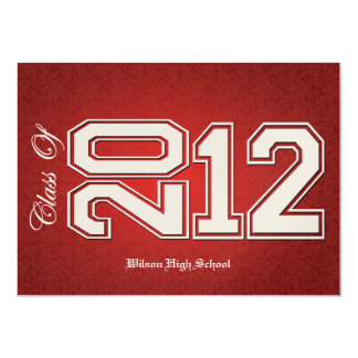 Red and Gold Class of 2012 Graduation Invites