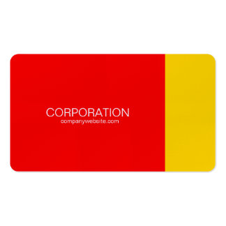 Red and gold classy business cards
