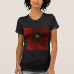 Red and Gold Color. Fractal Art. Shirt