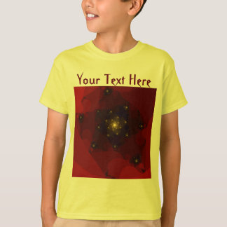 Red and Gold Color. Fractal Art. T-Shirt