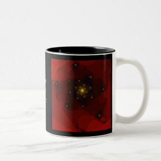 Red and Gold Color. Fractal Art. Two-Tone Coffee Mug