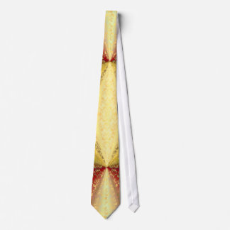Red and gold damask tie