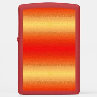 Red and Gold Design Zippo Lighter