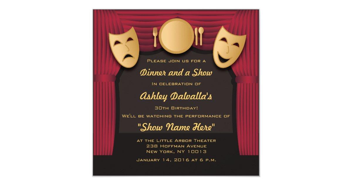Theatre Invitations & Announcements   Zazzle