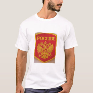 red and gold double headed eagle T-Shirt