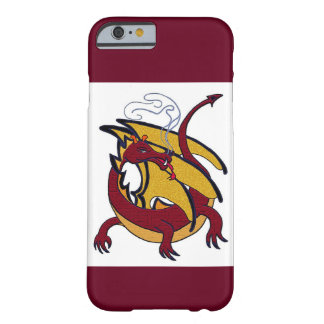Red and gold dragon barely there iPhone 6 case