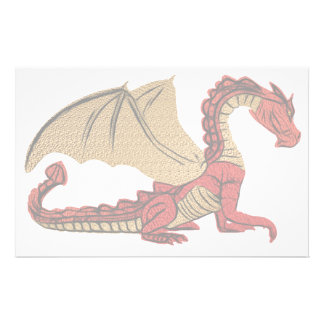 Red And Gold Dragon Stationery