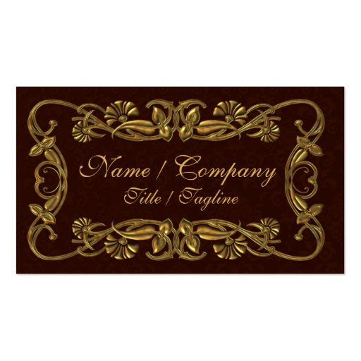 Red and Gold Elegance Double-Sided Standard Business Cards (Pack Of 100)
