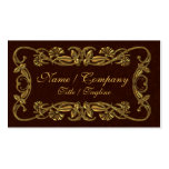 Red and Gold Elegance Business Cards