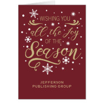Red and Gold Elegant Modern Company Holiday Card