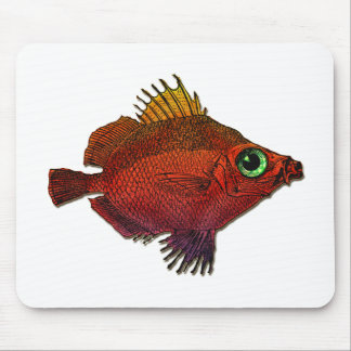 Red and Gold Fantasy Discus Fish Mouse Pad