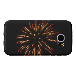 Red and Gold Firework Flower Samsung Galaxy S6 Case