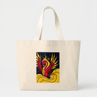 Red and Gold flying phoenix Canvas Bag