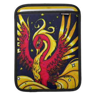 Red and Gold flying phoenix iPad Sleeve