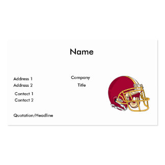 red and gold football helmet vector graphic business card templates