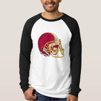 red and gold football helmet vector graphic t shirt