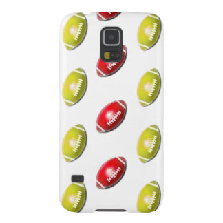 Red and Gold Football Pattern Case For Galaxy S5
