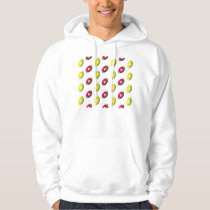 Red and Gold Football Pattern Hoodie