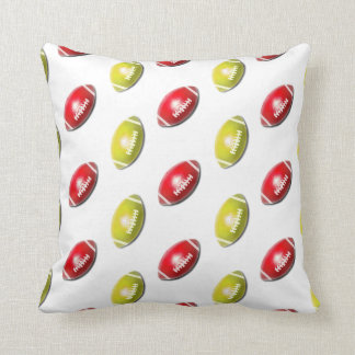 Red and Gold Football Pattern Pillow