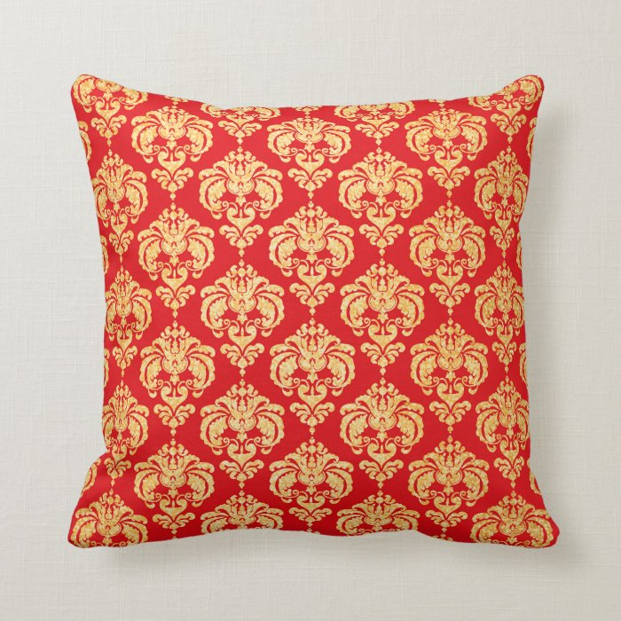 Red Gold Decorative Pillows : Red And Gold Decorative Pillows