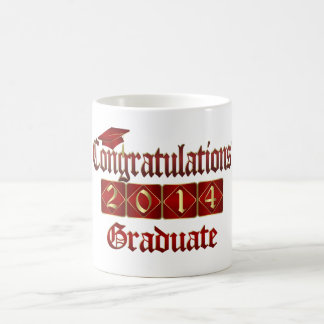 Red and Gold Graduate 2014 Coffee Mug
