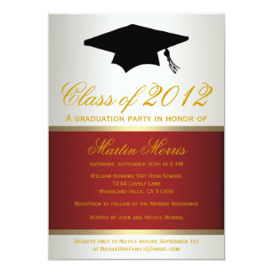 Maroon and gold graduation invitations announcements zazzle red and gold graduation invitation filmwisefo