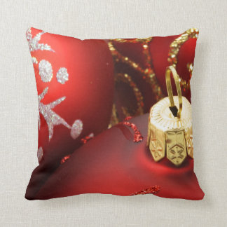 Red and Gold Holiday Throw Pillows