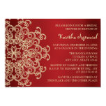 "Red and Gold Indian Inspired Bridal Shower 5"" X 7"" Invitation Card"