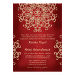 RED AND GOLD INDIAN STYLE WEDDING INVITATION